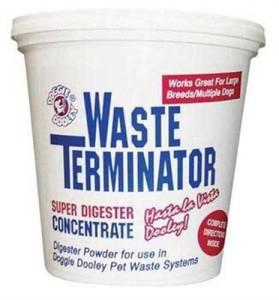 Dog poop compost