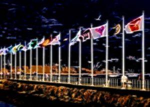 solar light flag pole